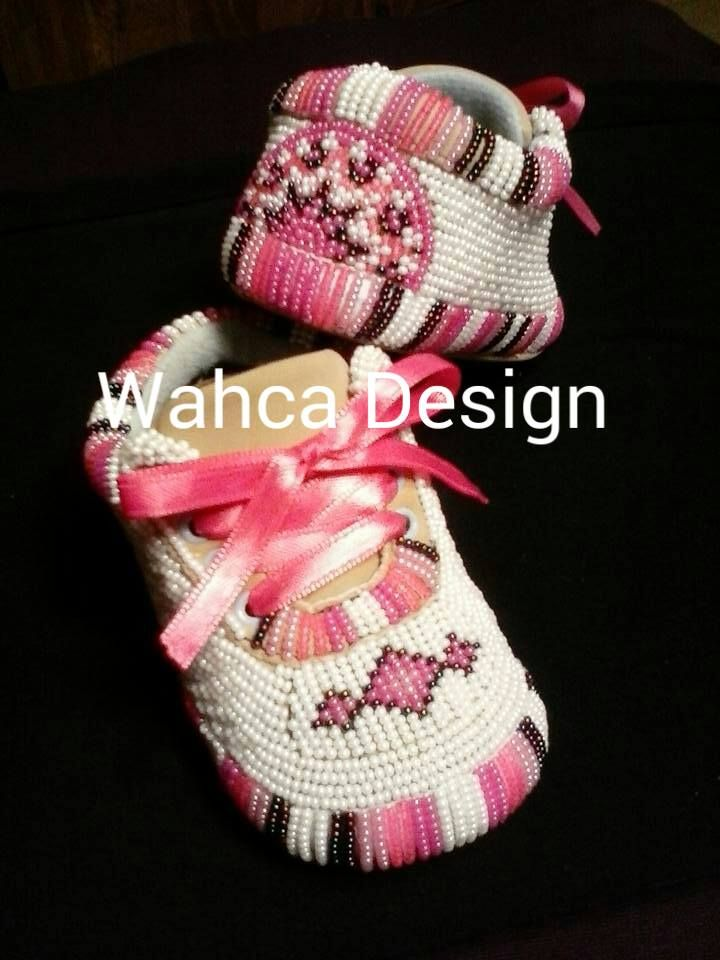 Native Style   Baby moccasins   Beadwork   Beaded moccasins