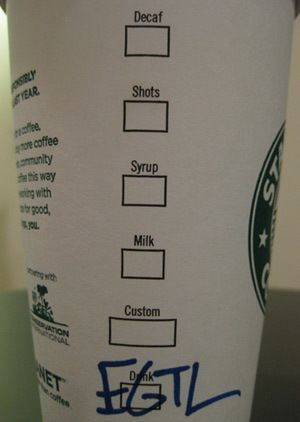 As a starbucks barsita- there are a lot A LOT of mistakes on this website. Seriously. Dafaqu?