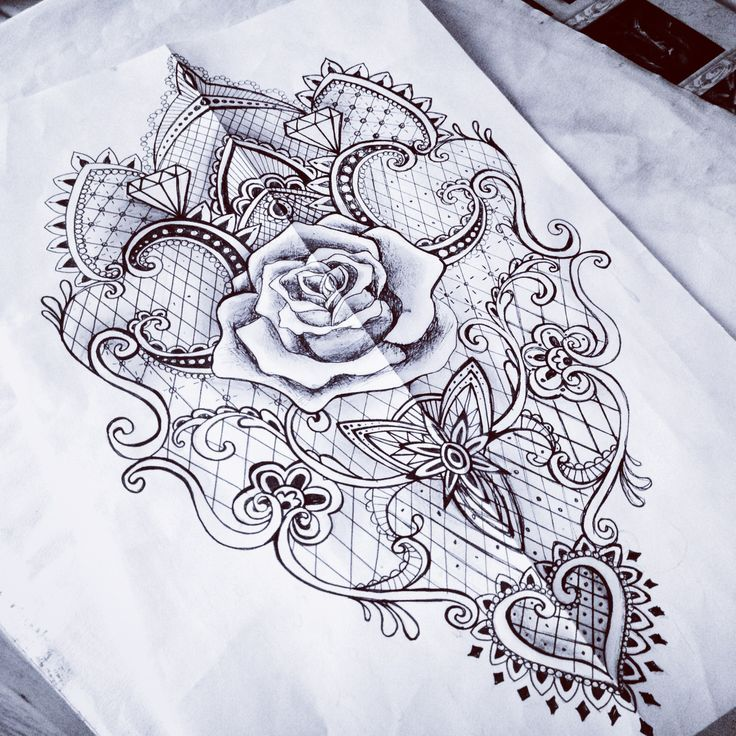 tattoo flash illustration woman in mirror - Google Search