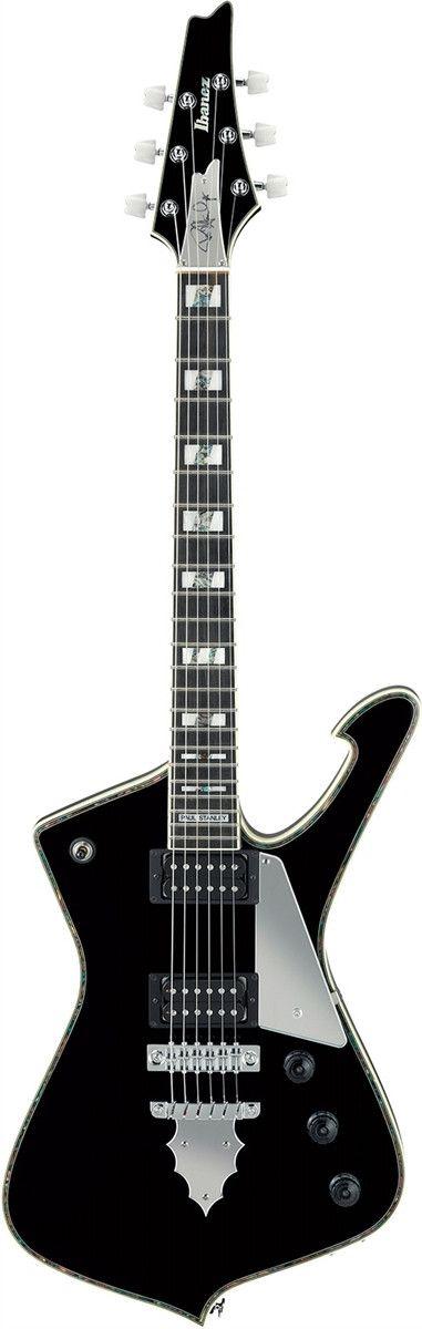 The Classic Paul Stanley Signature Guitar Features - PS10 Prestige set-in neck - Mahogany body / Maple Top - Jumbo Frets - Bound Ebony Fretboard - Acrylic/Abalone Block Inly - Gibraltar Bridge - Seymo                                                                                                                                                      More