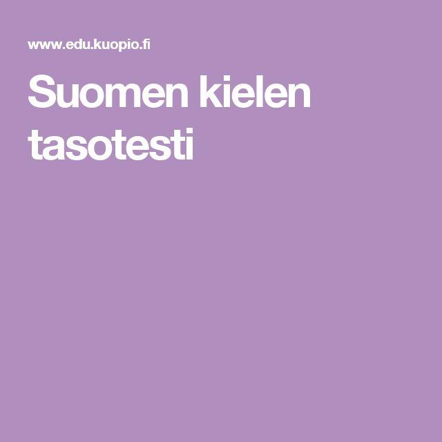 Suomen kielen tasotesti