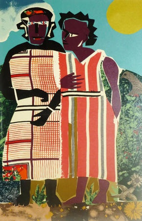 romare bearden - two women