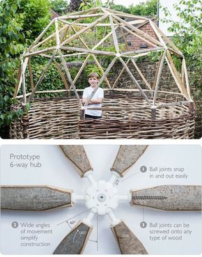 """We always enjoy seeing a great application of 3D printing and found a good one today: 3D printed geodesic dome joints from """"hubs""""."""