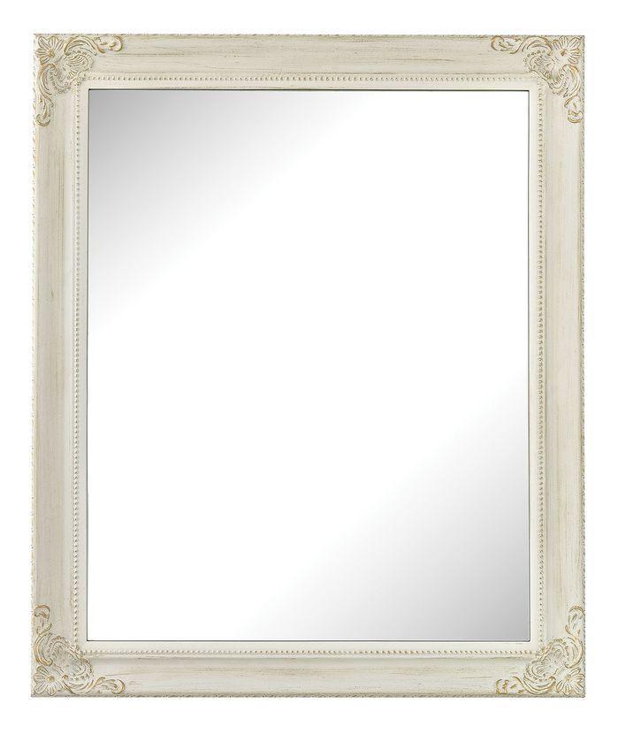 Dalton Antique White Wall Mirror
