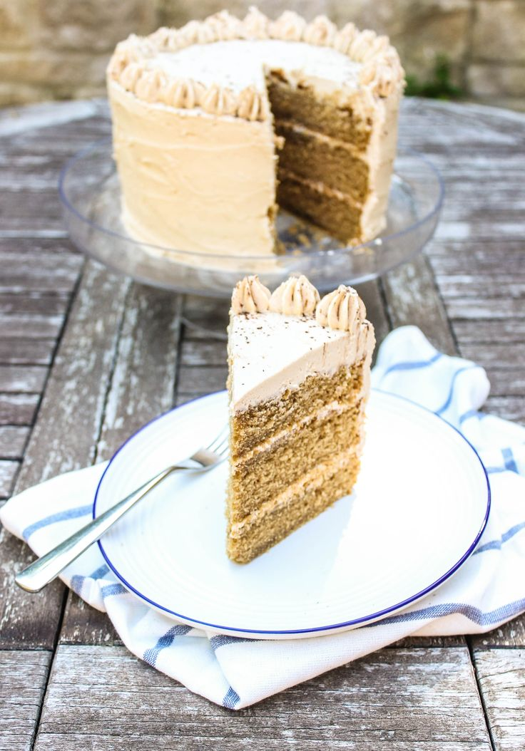 A light, tender coffee layer cake laced with amaretto and topped with a creamy coffee and amaretto buttercream. The best coffee cake I've tried!