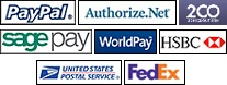 AlertPay, Authorize.Net (AIM), Bank Transfer, Cheque / Money Order, Cash On Delivery, LIQPAY, Moneybookers, Paymate, PayPoint, Perpetual Payments, PayPal, PayPal Payment Pro and (UK), SagePay, SagePay Direct, SagePay (US), 2Checkout, WorldPay