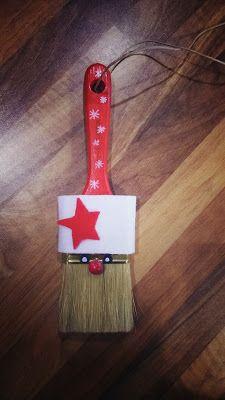 Weihnachten, Weihnachtsdeko, Pinsel, Kleinkinder U3 Spielideen, Bastelideen, Buchtips und Kinder-/Familien-Rezepte