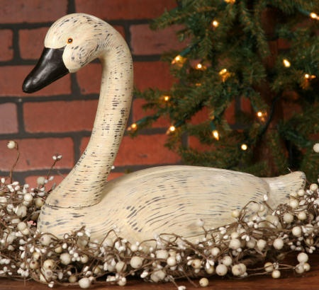 primitive white goose  from Country Craft House