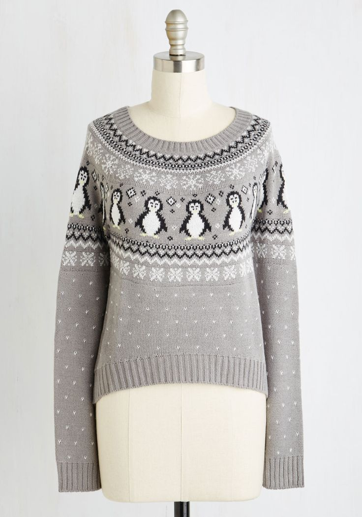 Chilly Nilly Sweater. Its aint true that just any sweater will do for you - but this grey pullover? #grey #modcloth