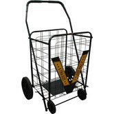 "Found it at Wayfair - 42"" Rolling Shopping Cart with Geometric Handle"