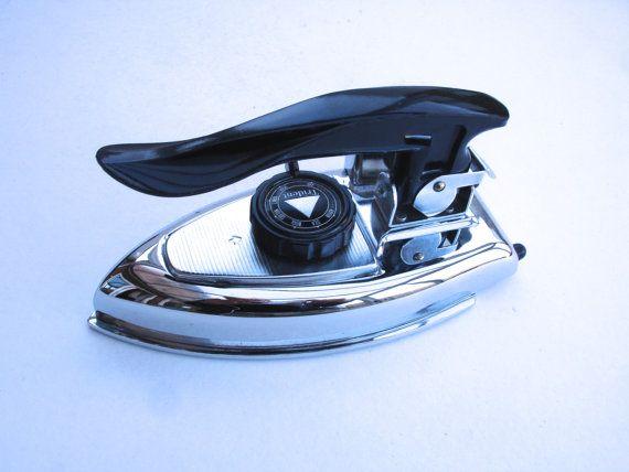 1950s Retro Trident Travel Iron Vintage Vanity by FillyGumbo