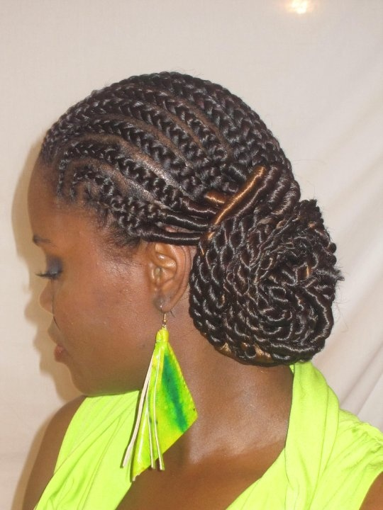 Bumpless Cornrows with Senegalese Twists | Styles by Twist ...