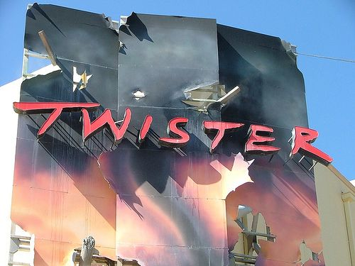 Universal Studios Orlando Florida Theme Park  and rides Twister Ride it Out  DSCF2203