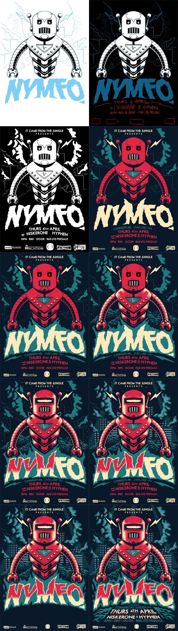 It Came From The Jungle Presents: NYMFO by Ian Jepson, via Behance