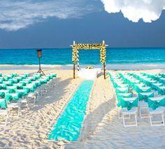 Boda turquesa en la playa, beach, wedding, turquoise.