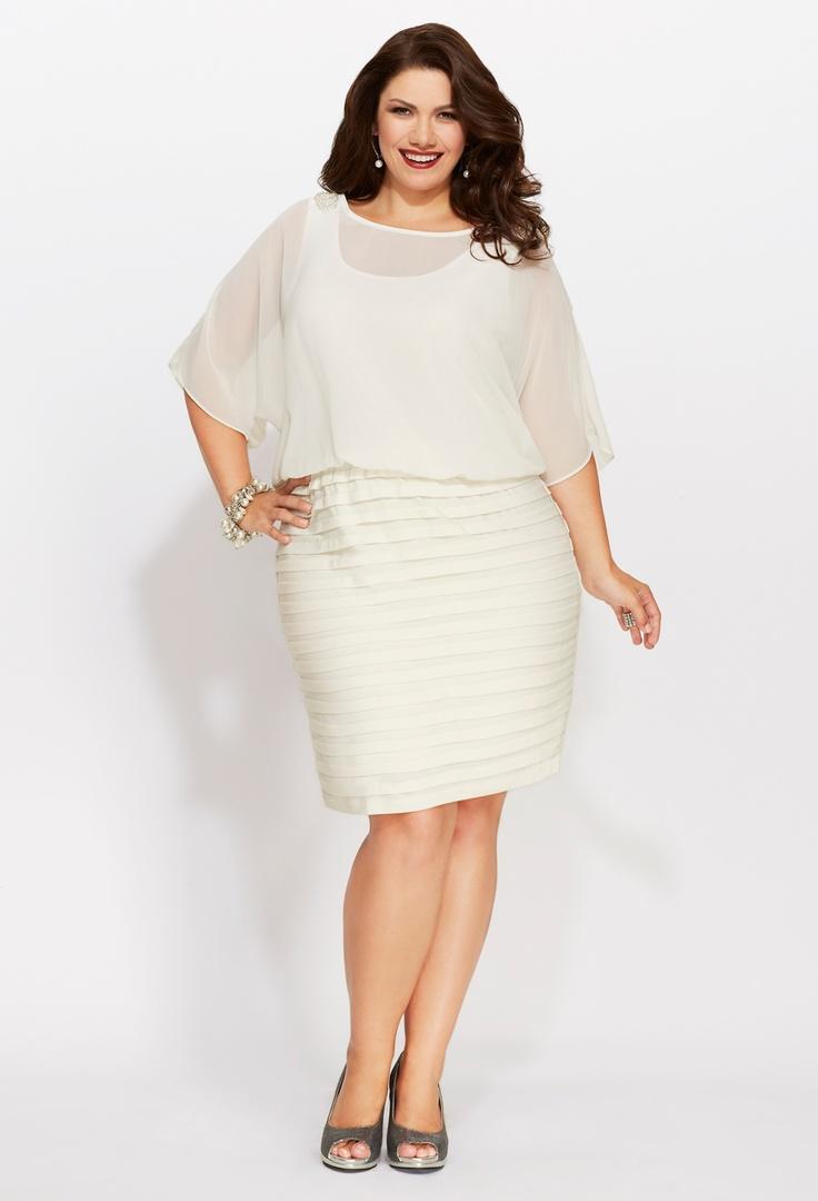 Plus Size Chiffon Pleat Bottom Dress   Plus Size Party Dresses   Avenue