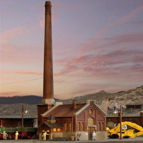 Chaudière avec cheminée #HO #Kibri A retrouver ici : http://www.latelierdutrain.com/les-entrepots-et-industries/100904-chaudiere-avec-cheminee-ho-187-kibri.html