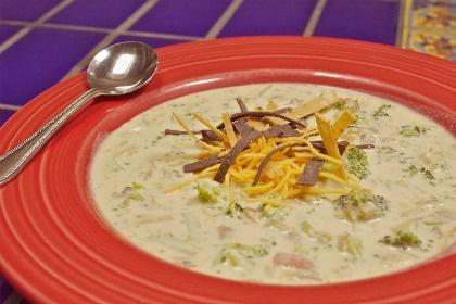 Green Chile Broccoli Soup Recipe from El Pinto Restaurant in Albuquerque
