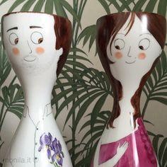 Monila handmade,porcellana,dipinta a mano,illustrazione