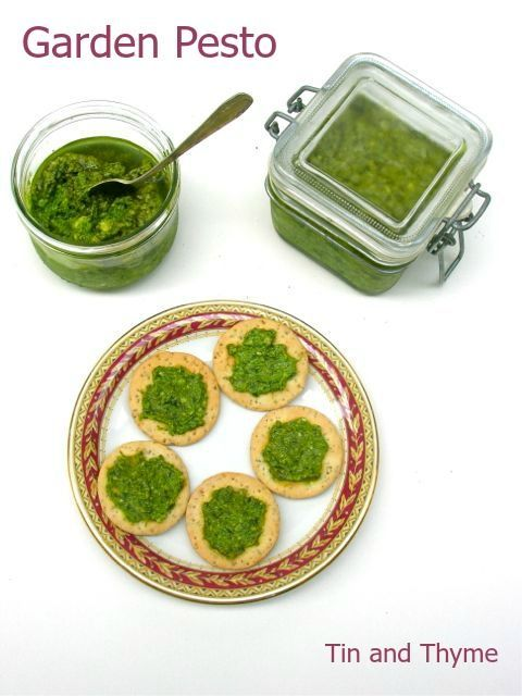 Fat hen and chickweed pesto - delicious, healthy and a good way to use weeds.