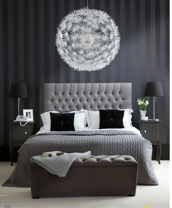 Schlafzimmer weiß schwarz  Die besten 25+ schwarze Schlafzimmer Ideen auf Pinterest ...