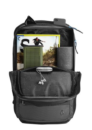 Sonar Backpack - Black / Blue | Nixon Mens Bags -