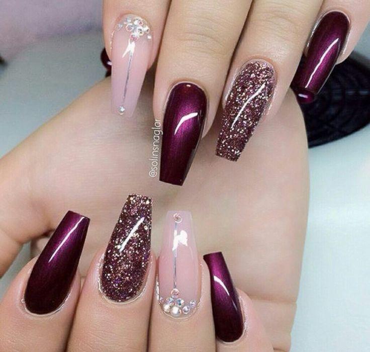 plum nails ideas