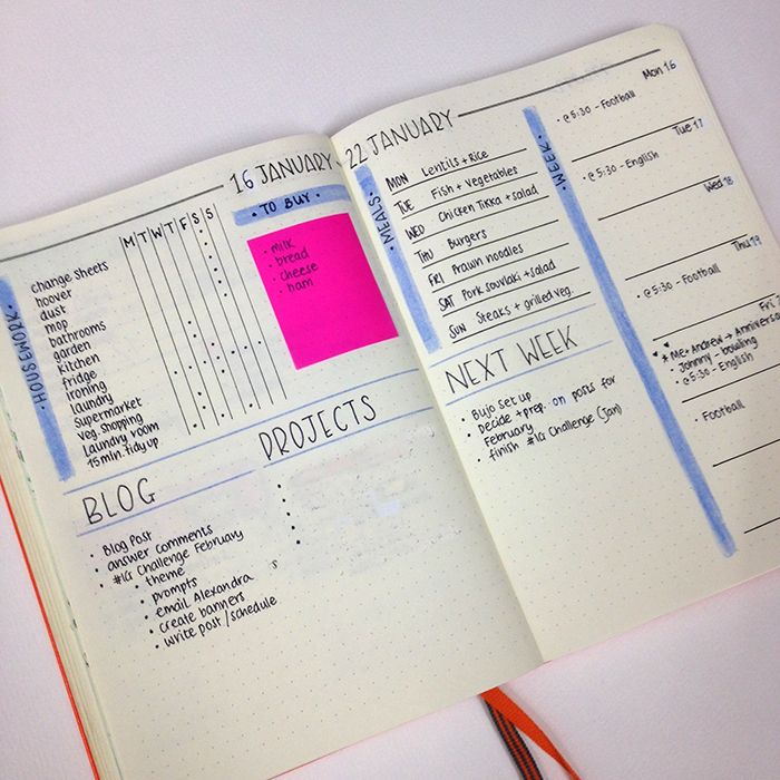 Minimalistic Bullet Journal with simple and functional spreads - www.christina77star.co.uk