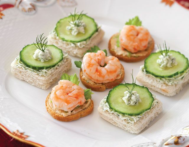 Light and fresh, these canapés from TeaTime magazine are a delectable summer treat.