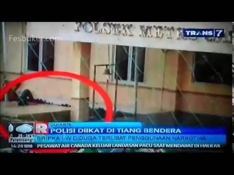 HEBOH Polisi Diikat Di Tiang Bendera. Hukuman Tidak Manusiawi?