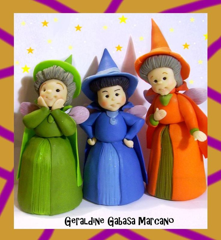 Witches cake topper