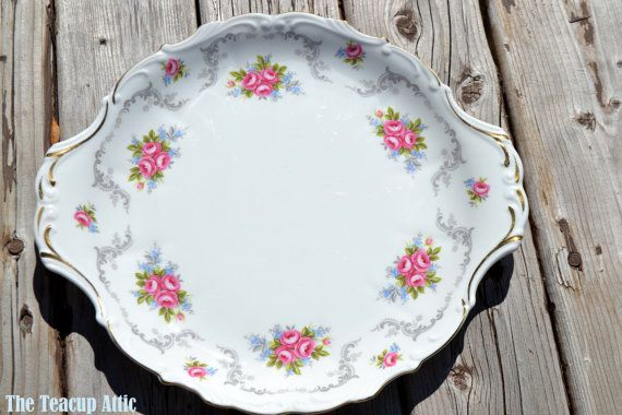 Royal Albert TRANQUILITY Handled Cake PlateTea by TheTeacupAttic