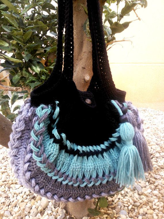 Original hairpin lace and crochet bag by Quinah on Etsy