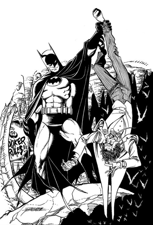 Batman & Joker by George Perez