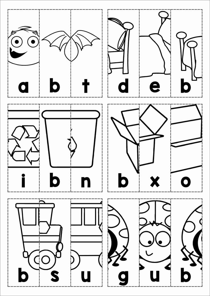 Kindergarten Cut And Paste Phonics Worksheets on Word Family Asl Activity Sheets Short E