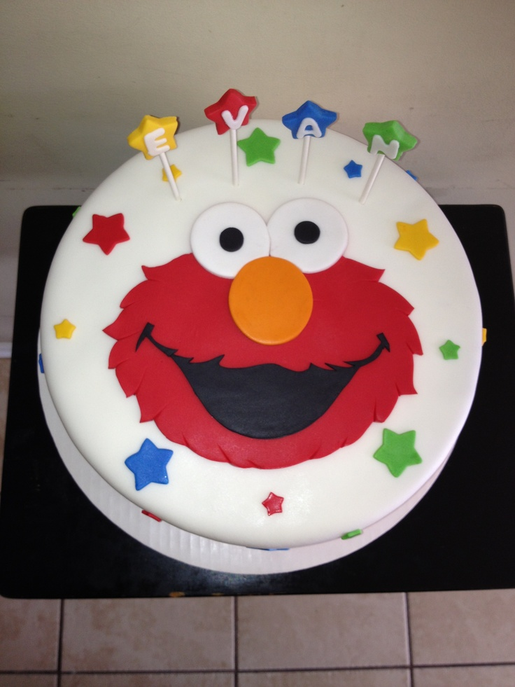 359 best sesame street theme images on pinterest cookie for Elmo template for cake