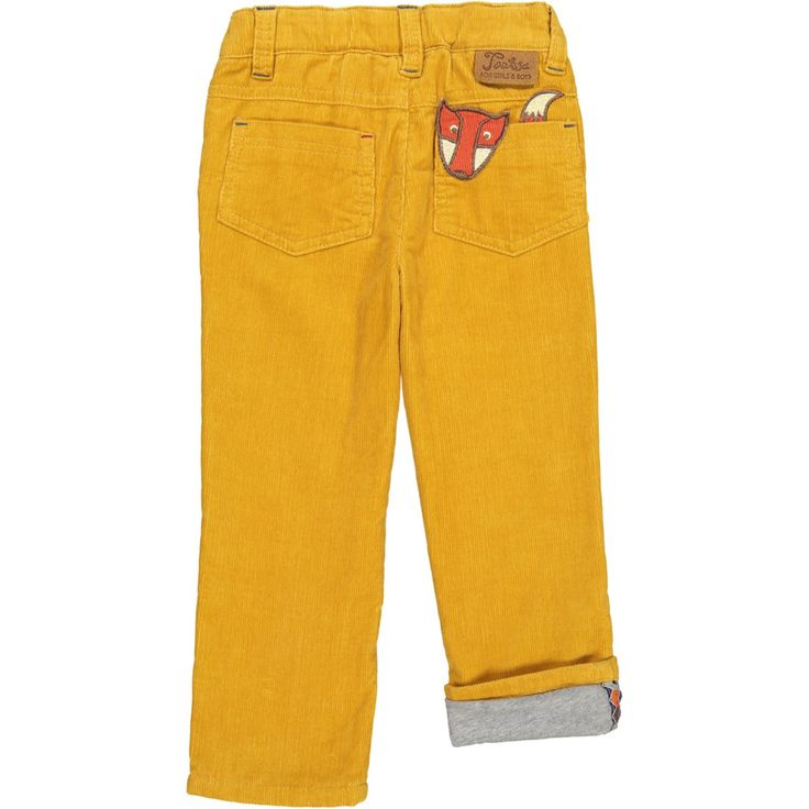 Tootsa Classic Lined Corduroy with adorable fox patch.  From Tootsa MacGinty. Available at Modern Rascals.