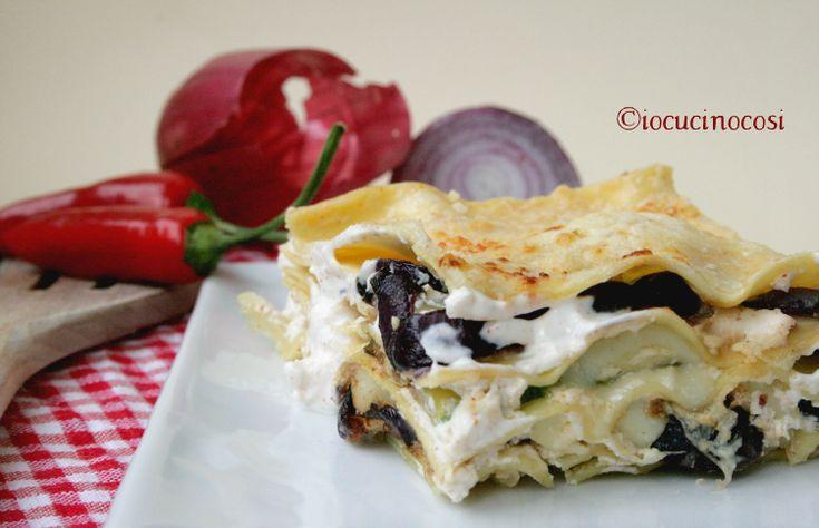 Ricetta Lasagne con zucchine cipolla e ricotta #ricettesalate