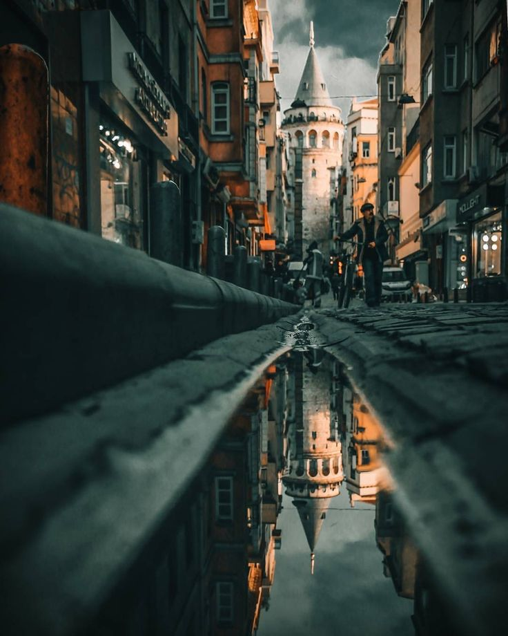Best Reflection Images On Pinterest Water Ripples Landscapes - Photographer captures the amazing reflections of puddles in new yorks streets