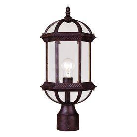 17.75-In H Rustic Bronze Post Light 20094675