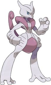 Mega Mewtwo X is the version exclusive mega-evolved form of Mewtwo. It is a Mewtwo Evolution that is exclusive to Pokémon X and has a different type to its counterpart in Pokémon Y. It has an increased Attack stat.