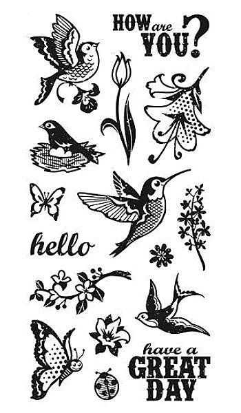 Inkadinkado Clear Stamp - Happy Spring Day