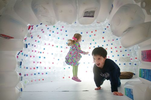 7 best igloos as sensory room images on pinterest milk for How to build an igloo out of milk jugs