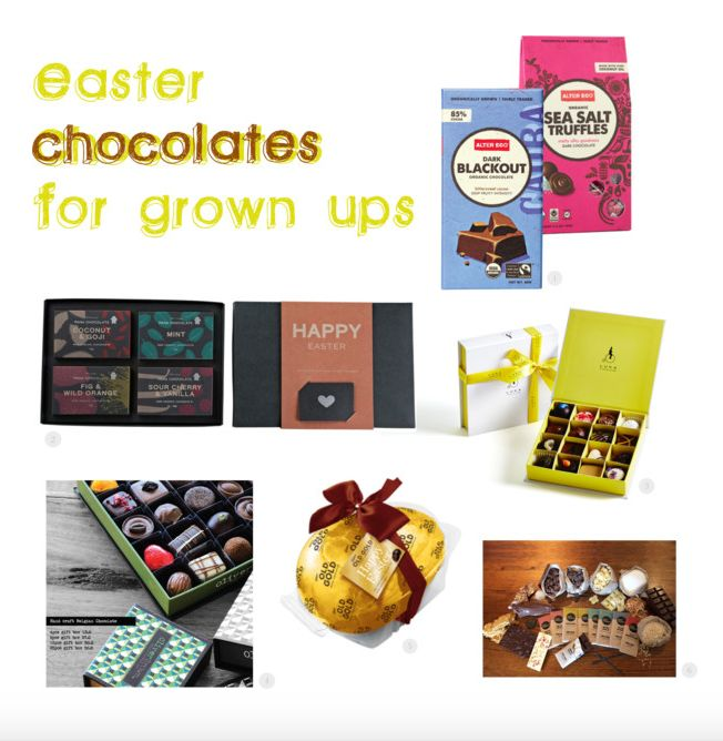 "easter chocolate for ""grown ups"""