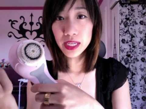 Review on Pink Clarisonic Face Cleaning Brush - YouTube