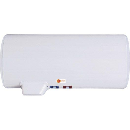 Chauffe eau électrique horizontal mural EQUATION Titane Electronique, 200 L