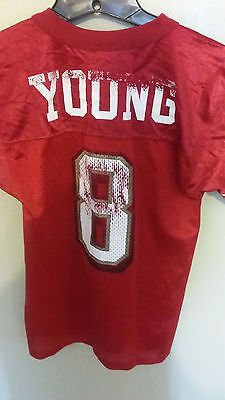 SAN FRANCISCO 49ERS STEVE YOUNG FOOTBALL JERSEY SIZE SMALL YOUTH