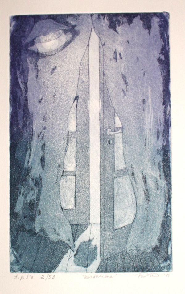 Kesähuone / Summer room Etching and Aquatint 2011  http://www.minnaristolainen.com/shop/wordpress/?product=summer-room-postcard