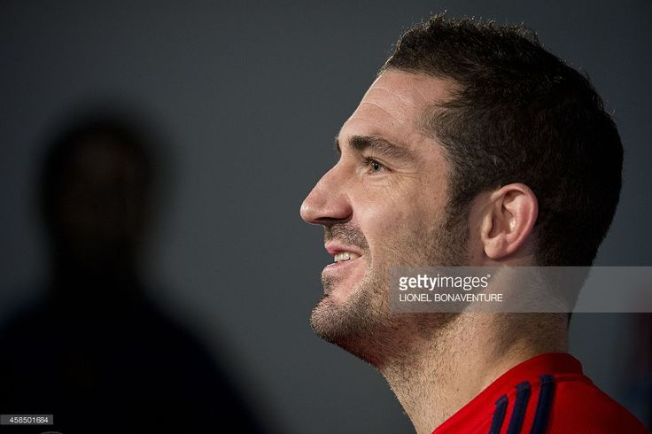 Frances full back Scott Spedding is seen after a training session on November 6, 2014 in Marcoussis, south of Paris.