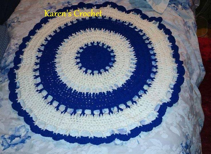 Crochet Area Rug (too good for the floor)